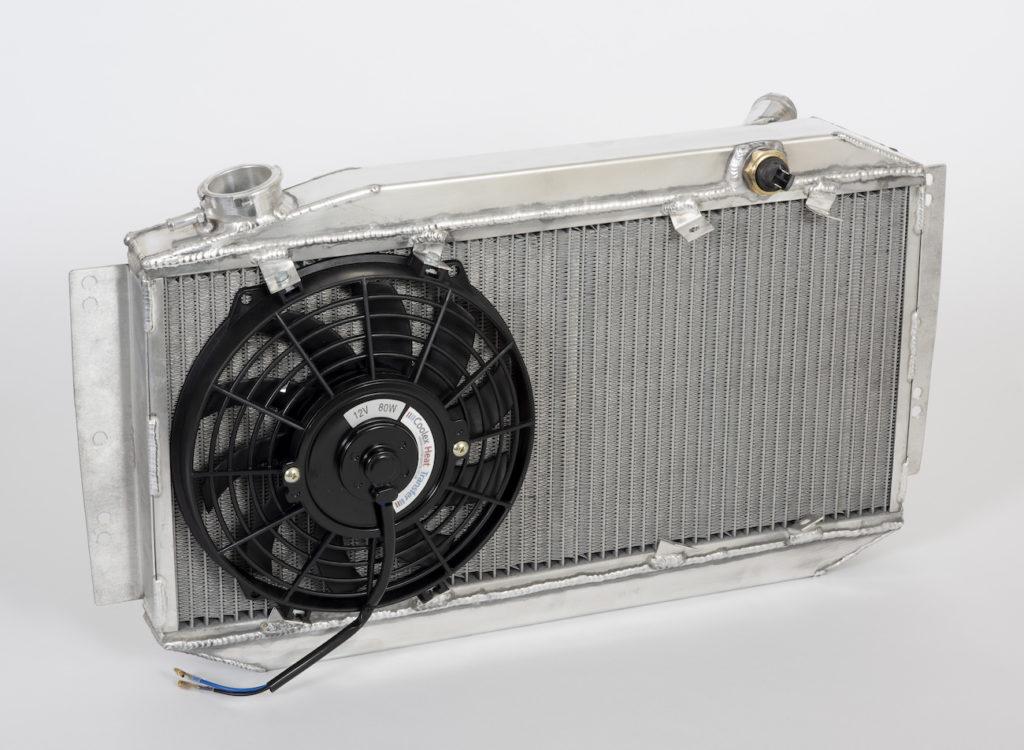 car radiator with fan